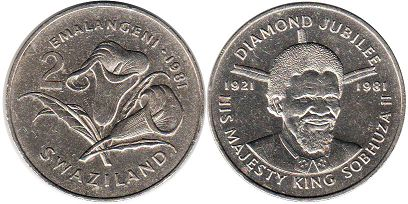 coin Swaziland 2 emalangeni 1981