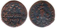 coin Switzerland 1 rappen 1801