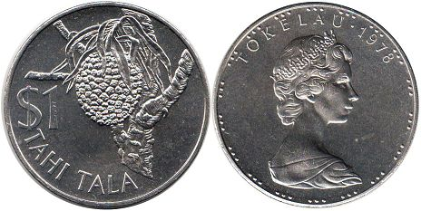 coin Tokelau 1 tala 1978
