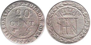 coin Westphalia 20 centimes 1812