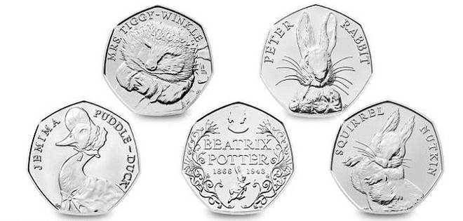 50p Beatrix Potter 2016 series