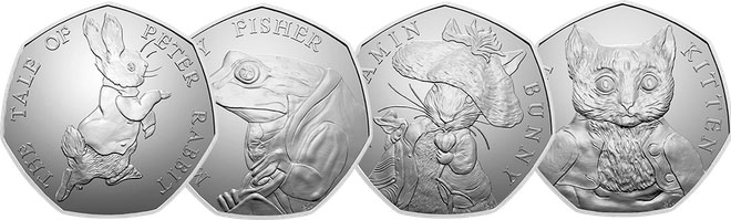 50p Beatrix Potter 2017 series