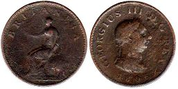 coin UK old coin farting 1806