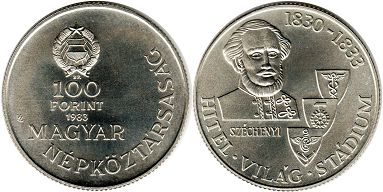 coin Hungary 100 forint 1983