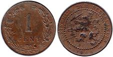 coin Netherlands 1 cent 1904