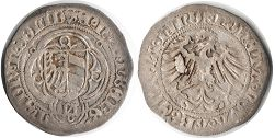 coin Nuremberg 1/2 schilling without date (1445-1510)