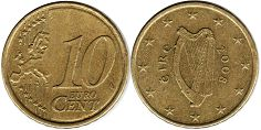 coin Ireland 10 euro cent  2008