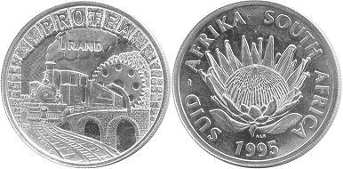 coin South Africa 1 rand 1995