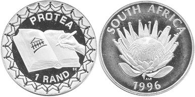 coin South Africa 1 rand 1996