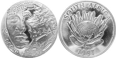 coin South Africa 1 rand 1997