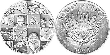 coin South Africa 1 rand 1998