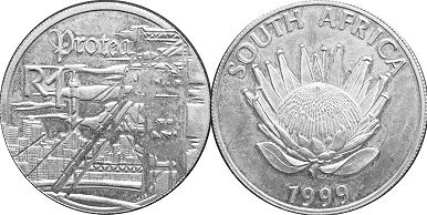 coin South Africa 1 rand 1999