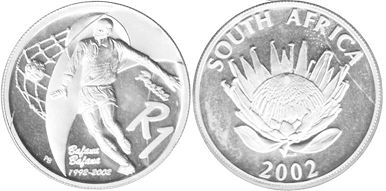 coin South Africa 1 rand 2002