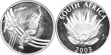 coin South Africa 1 rand 2003