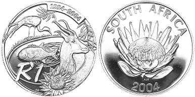 coin South Africa 1 rand 2004