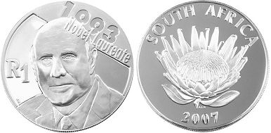 coin South Africa 1 rand 2007