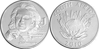 coin South Africa 1 rand 2010