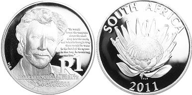 coin South Africa 1 rand 2011
