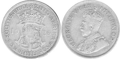 old coin South Africa 2,5 shillings 1926