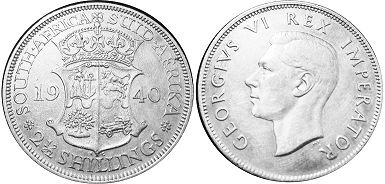 old coin South Africa 2,5 shillings 1940