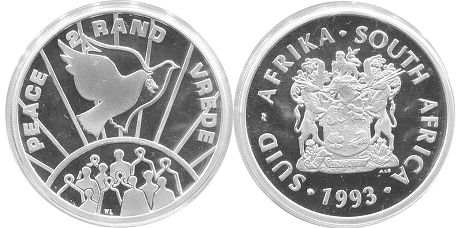 coin South Africa 2 rand 1993