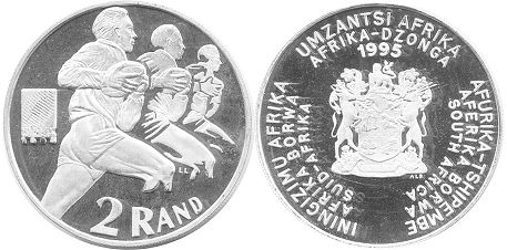 coin South Africa 2 rand 1995
