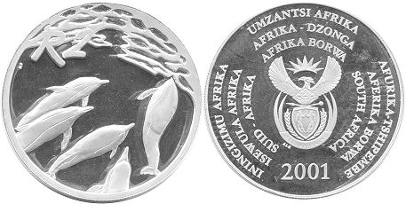 coin South Africa 2 rand 2001