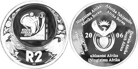 coin South Africa 2 rand 2006