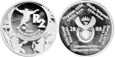 coin South Africa 2 rand 2008