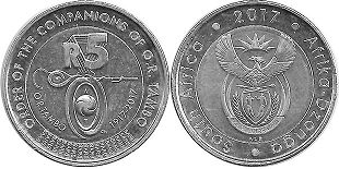 coin South Africa 5 rand 2017