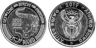 coin South Africa 5 rand 2019