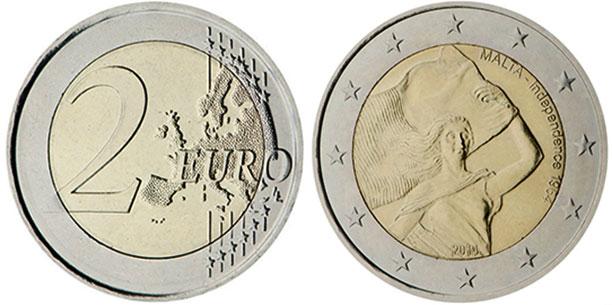 Establishment of Self-Government. MALTA 2 € Euro commemorative coin 2013