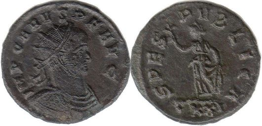 coin Roman Empire Carus antoninianus
