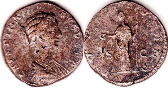 coin Roman Empire Crispina as