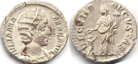 coin Roman Empire Julia Mamaea denarius