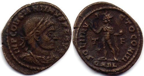 coin Roman Empire Constantine I the Great follis