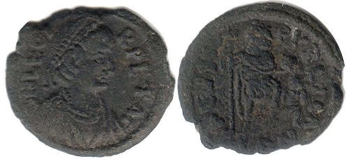 coin Roman Empire Leo I the Thracian