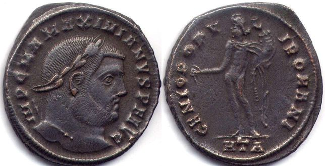 coin Roman Empire Maximian follis