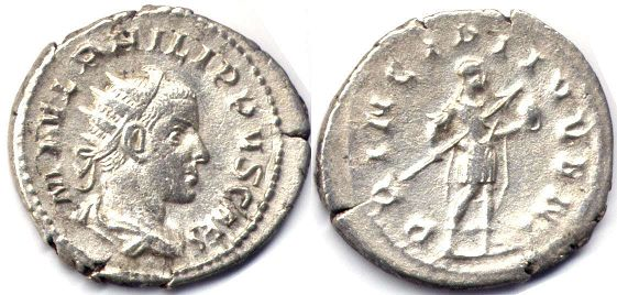coin Roman Empire Philip IIantoninianus