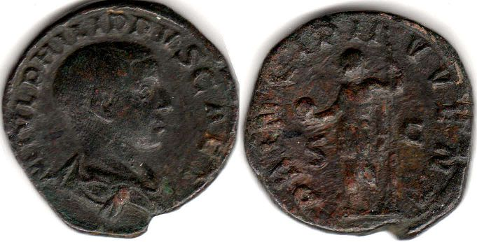 coin Roman Empire Philip II Sestertius