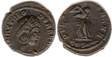coin Roman Empire Theodora