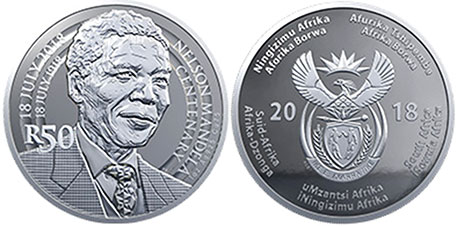 coin South Africa 50 rand 2018