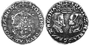 coin English 6 pence 1557