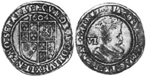 coin English 6 pence 1604