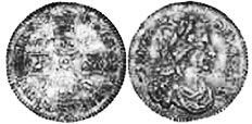 coin English 6 pence 1674