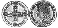 coin English 6 pence 1686