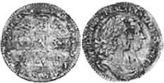 coin English 6 pence 1693