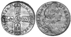coin English 6 pence 1696