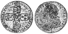 coin English 6 pence 1728