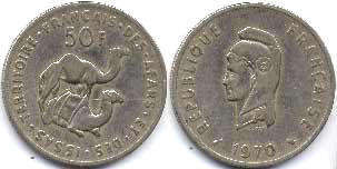 coin Afar and Issas 50 francs